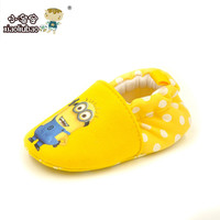New Arrive Lovely Minions Newborn Baby Boys Girls Shoes First Walkers Cotton Toddler Shoes Baby Shoes Branded 11 12 13