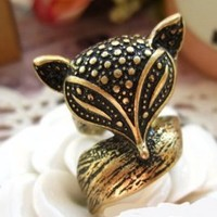 Wholesale Unique Old Fashion Charming Fox Ring