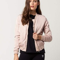 IVY + MAIN Matte Satin Womens Bomber Jacket | Jackets