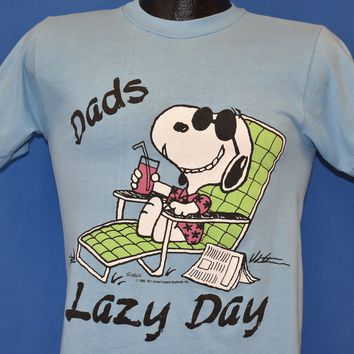 80s Snoopy Dad's Lazy Day Vacation t-shirt Small