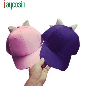 2017 New Design Cotton Fashion Solid Hats Snapback Sun Plain Hat Bowknot Patchwork Hat Adjustable Cap Baseball Unisex  17May 25