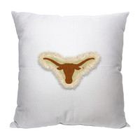 Texas Longhorns NCAA Team Letterman Pillow (18x18)