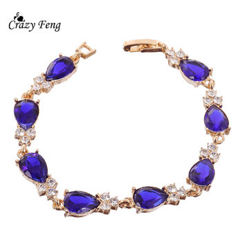 New Fashion Jewelry For Women Simple Design Crystal Bracelets For Party Best Friend Gift Bracelet Free shipping