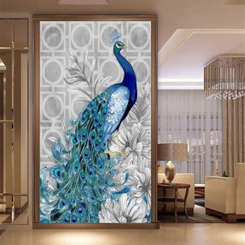 5D Crystal Diamond Peacock Painting Embroidery Cross Stitch Home Wall Hanging Decor Living Room Decorations Paintings