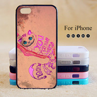 Alice in Wonderland Cheshire Cat,iPhone 5 case,iPhone 5C Case,iPhone 5S Case, Phone case,iPhone 4 Case, iPhone 4S Case,Case-IP002