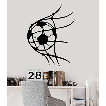 Vinyl Wall Decal Soccer Sport Ball Player For Boys Room Stickers (2703ig)
