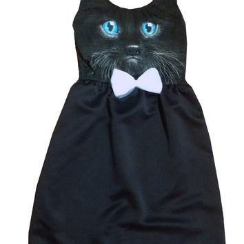 Kitten Face Cocktail Tea Party Dress