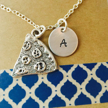 Pizza Necklaces - Friendship Necklace - Best Friends Jewelry - Best Friend Gift -Pizza Slice - Silver Pizza -Sisters Necklace