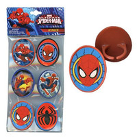 Ultimate Spiderman Cupcake Rings Set Of 6