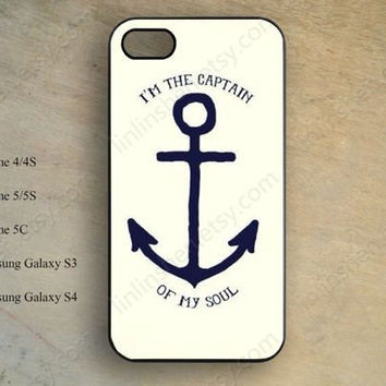 Nautical Phone case,anchor case,iphone 5s case,iPhone 5c Case,iphone 5 case,iphone 4 case,samsung galaxy S4 S3,hipster phone case X-149