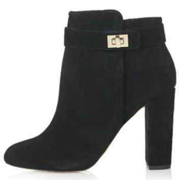 HONEY Gold Trim Boots - Black