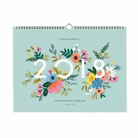 2018 Rifle Paper Co. Appointment Calendar