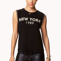 Beaded New York Muscle Tee