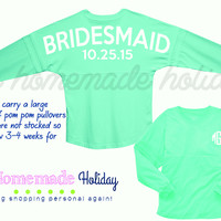 Bridal party Pom pom pullovers