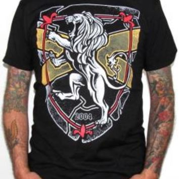 Rampant Lion T-Shirt - Burnt Roar