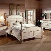 Hillsdale Wilshire Bed - Queen, Rails, Nightstand, Dresser, and Mirror