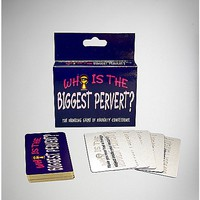 'Who is the Biggest Pervert' Drinking Game - Spencer's