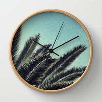 Palms Wall Clock by RichCaspian | Society6