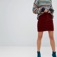 Monki Corduroy Mini Skirt at asos.com