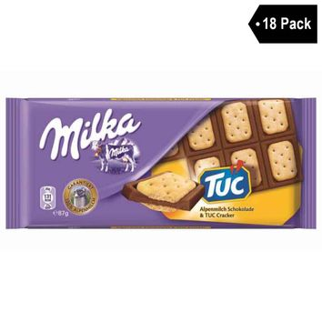 18 Pack Milka Chocolate with Tuc Biscuits