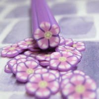 Polymer clay cane flower purple 1pcs for miniature foods decoden and nail art supplies