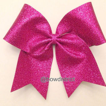 "3"" Hot Pink Glitter Cheer Bow"