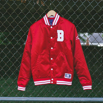 BBC x Majestic (Reversible) Satin Jacket - Red