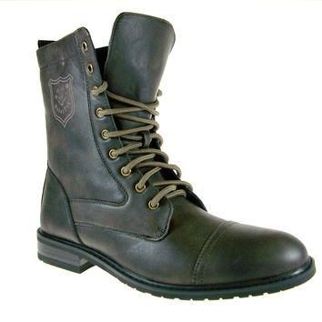 Mens Polar Fox Calf High Military Lace Up Combat Boots 801026 Brown-567