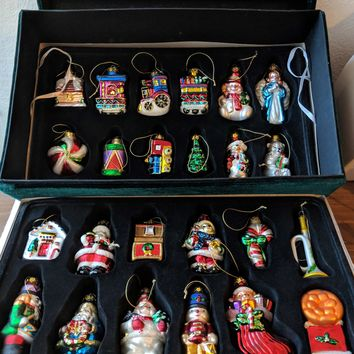 European Style Blown Glass 2002 Christmas Ornaments by HSN
