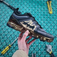 Nike Air Vapormax 2019 Metallic Gold Sport Running Shoes - Best Online Sale