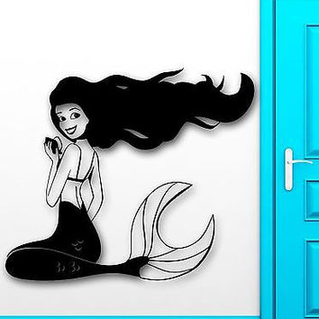 Wall Sticker Vinyl Decal Mermaid Cool Decor for Kids Baby Room Nursery (ig2023)