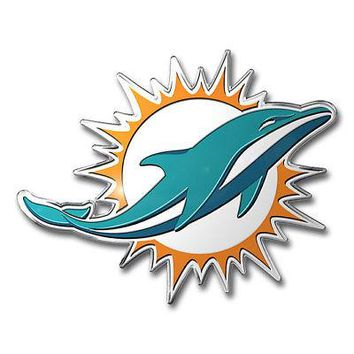 Licensed Official NFL Miami Dolphins Premium Vinyl Decal / Sticker / Emblem - Pick Your Pack