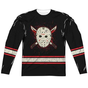 Friday the 13th Jason Voorhees Jersey Long Sleeve Sub Shirt