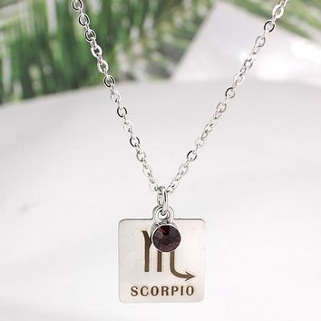 Stone + Sign Necklace