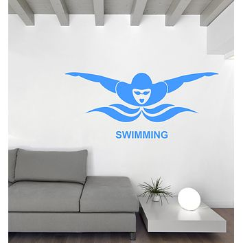 Wall Decal Vinyl Water Sport Swimming Butterfly Swim Sign Sticker Unique Gift (n1167)