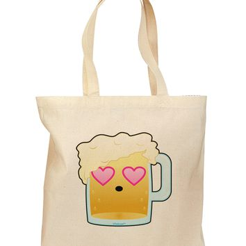 Cute Infatuated Beer Grocery Tote Bag by TooLoud