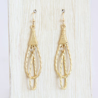 Gold Interlaced Earrings