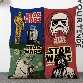 Star wars pattern square Seat throw cushion Decorative pillow with no stuffing filling for New House bedroom