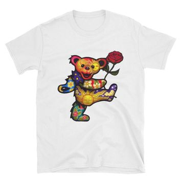 GRATEFUL DEAD T-SHIRTS - Gifts For Deadheads - Dancing Bear - Psychedelic Tees, Girl's T-shirt, Girlfriend Gift - Cute Gift Idea For Girls!