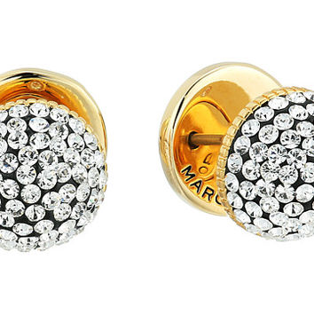 Marc Jacobs Pave Circle Studs Earrings