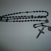 Vintage French Lourdes  Carmelite Rosary with by joiedefrance