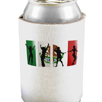 Mexican Flag - Dancing Silhouettes Can / Bottle Insulator Coolers by TooLoud
