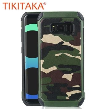 Luxury Army Camo Camouflage Hybrid Phone Cases For Galaxy S8 S8 Plus