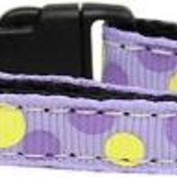Confetti Dots Nylon Collar Lavender Cat Safety