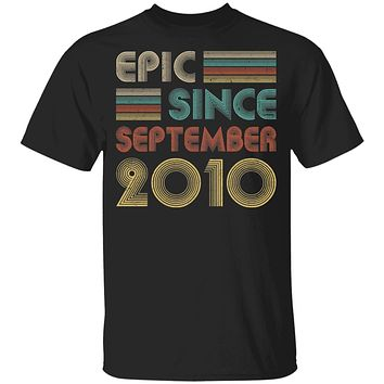 Epic Since September 2010 Vintage 10th Birthday Gifts Youth