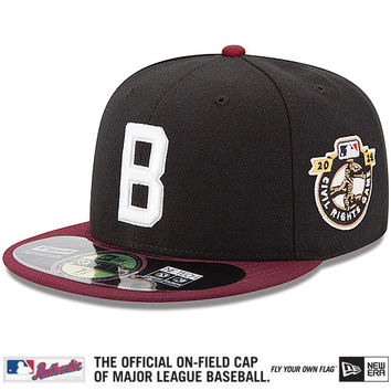 Baltimore Elite Giants Authentic Collection On-Field 59FIFTY Game Cap with 2014 Civil Rights Game Patch - MLB.com Shop