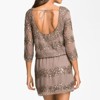 Adrianna Papell Embellished Scoop Back Blouson Dress | Nordstrom