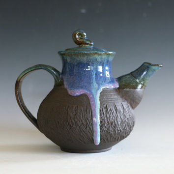 Ceramic Teapot, Handmade Stoneware Teapot, Ceramic Teapot, ceramics and pottery, pottery teapot, wheel thrown teapot, Kazem Arshi