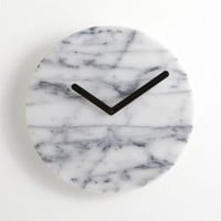 "White Marble 12"" Clock"
