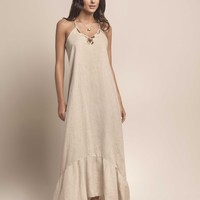 Solid Linen Long Dress